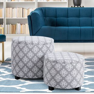 Rochell 2 Piece Storage Ottoman Set by Winston Porter