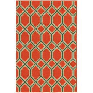 Seaside Orange/Teal Indoor/Outdoor Area Rug