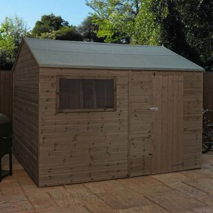12 Ft. W X 8 Ft. D Solid Wood Garden Shed By Sol 72 Outdoor