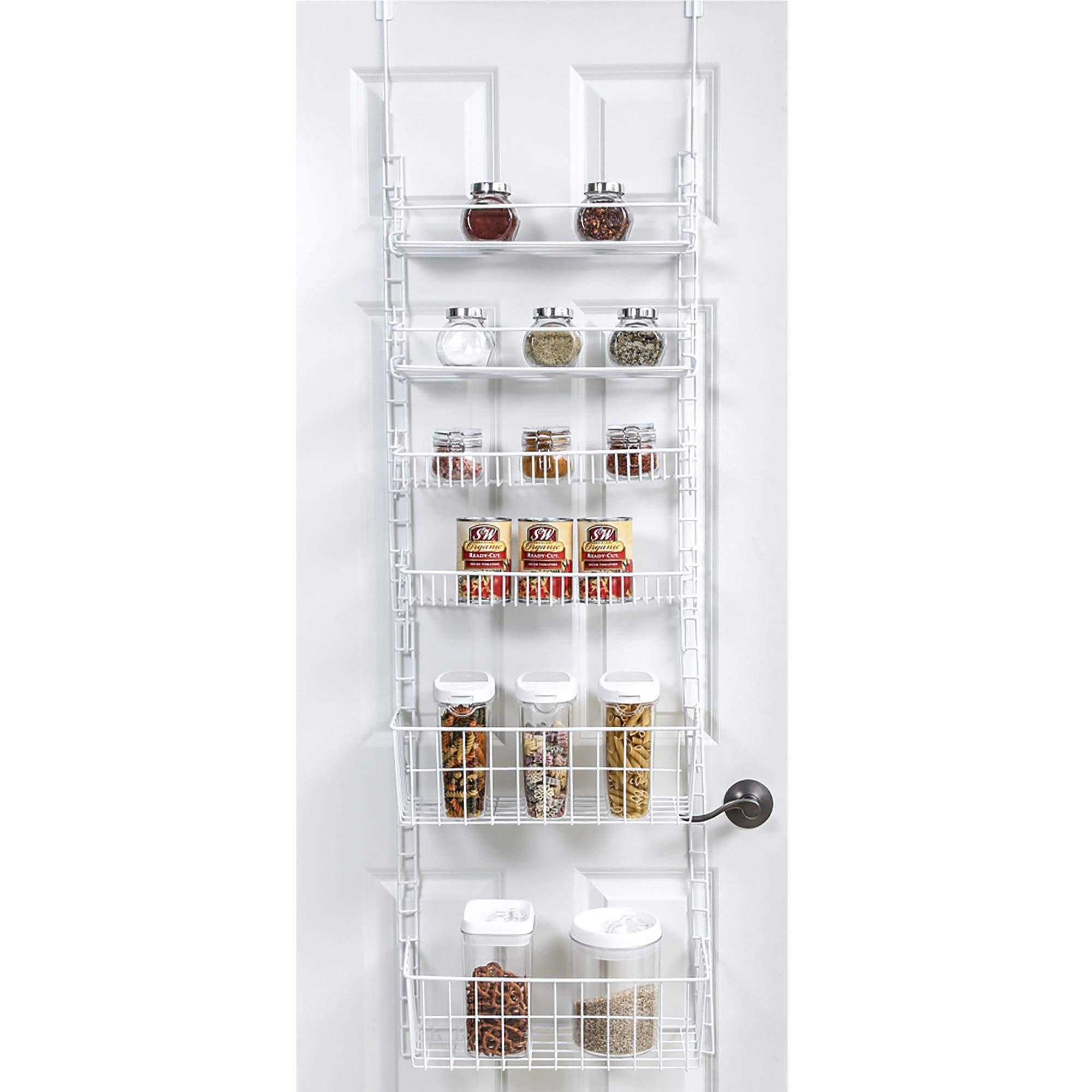 Adjustable Pantry Organizer Rack W/ 20 Adjustable Shelves Steel Construction  W/ Hooks & Screws   For Cans, Food, Misc. Item   Kitchen