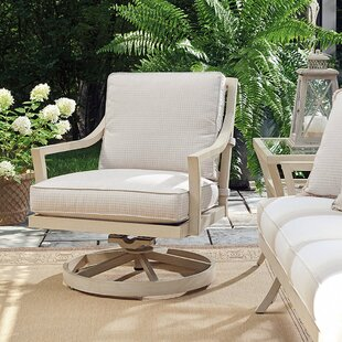 Misty Garden Swivel Patio Chair with Cushion