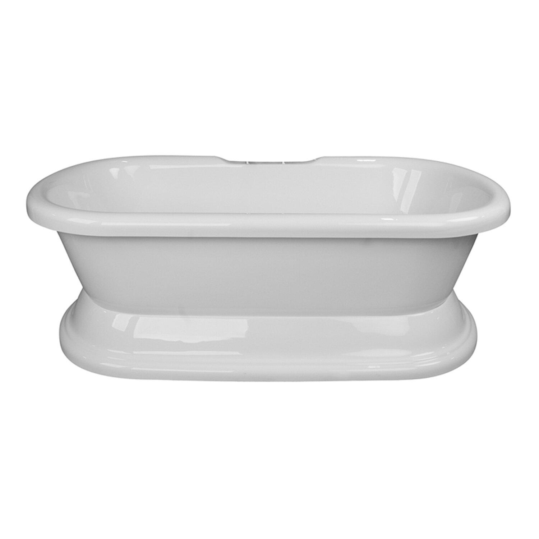 Cahabaclassics 60 X 31 Pedestal Soaking Bathtub Wayfair