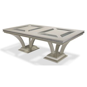 Hollywood Swank Rectangular Dining Table by Michael Amini (AICO)