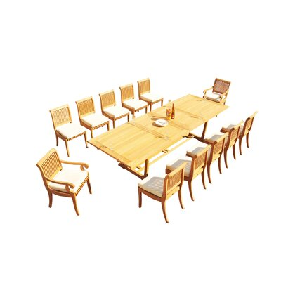 Maskell 13 Piece Teak Dining Set by Rosecliff Heights