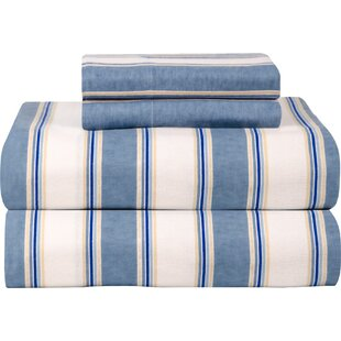 Top Reviews Celeste Home Ultra Soft Flannel Sheet Set in Blue & White ByCeleste Home