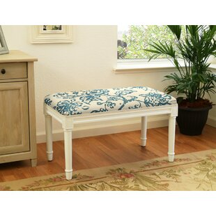 Charlton Home Ramage Painterly Toile Wood Bench