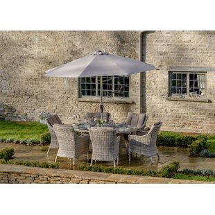 Ridgemoor 6 Seater Dining Set With Cushions And Parasol By Sol 72 Outdoor