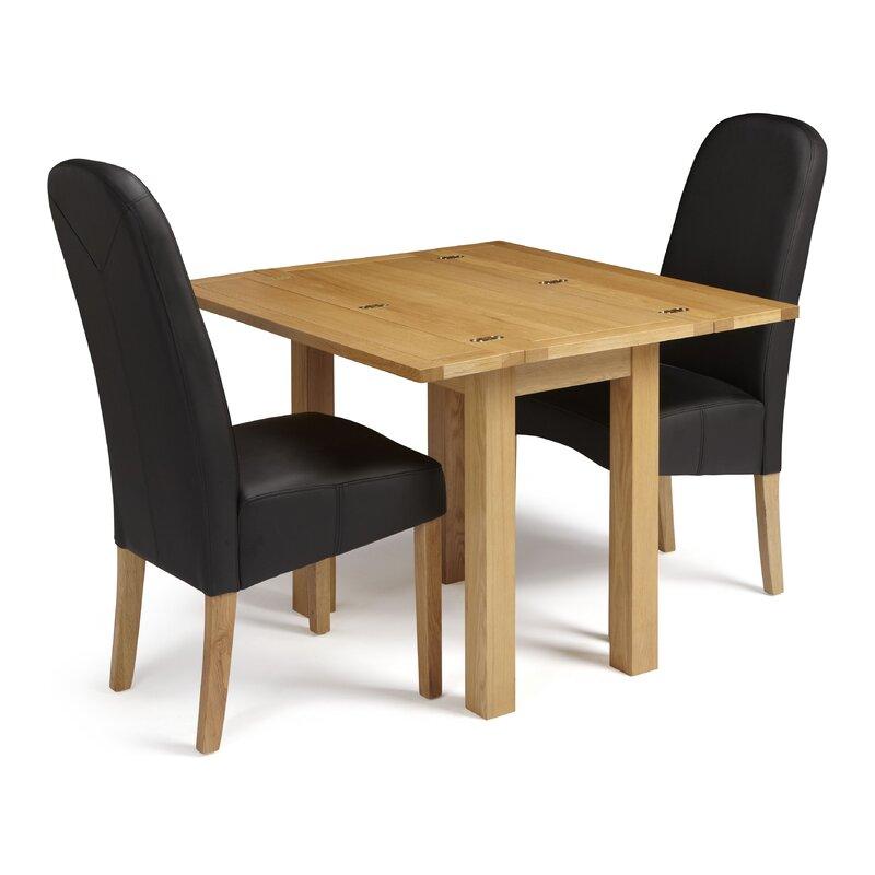 Red Barrel Studio Hattiesburg Folding Dining Set With 2 Chairs Wayfair Co Uk