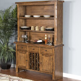 Alsatia Live Edge Buffet Table and Dining Hutch Loon Peak