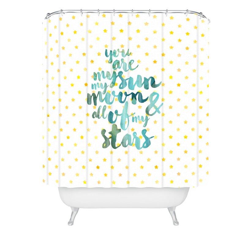 Hello Sayang Sun Moon Stars Shower Curtain