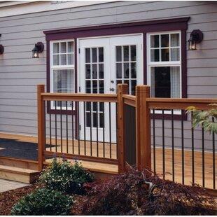 6 Ft. W Traditional Cedar Straight Deck Railing Panel By Vista Railing Systems Inc