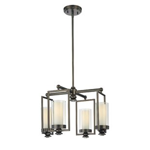 Williston Forge Anissa 4-Light Shaded Chandelier