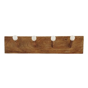 Samuels Marble And Wood Wall Mounted Coat Rack