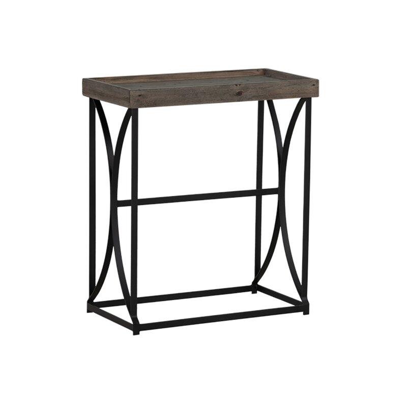 Union Rustic Faircloth 23 5 Solid Wood Console Table Wayfair Ca