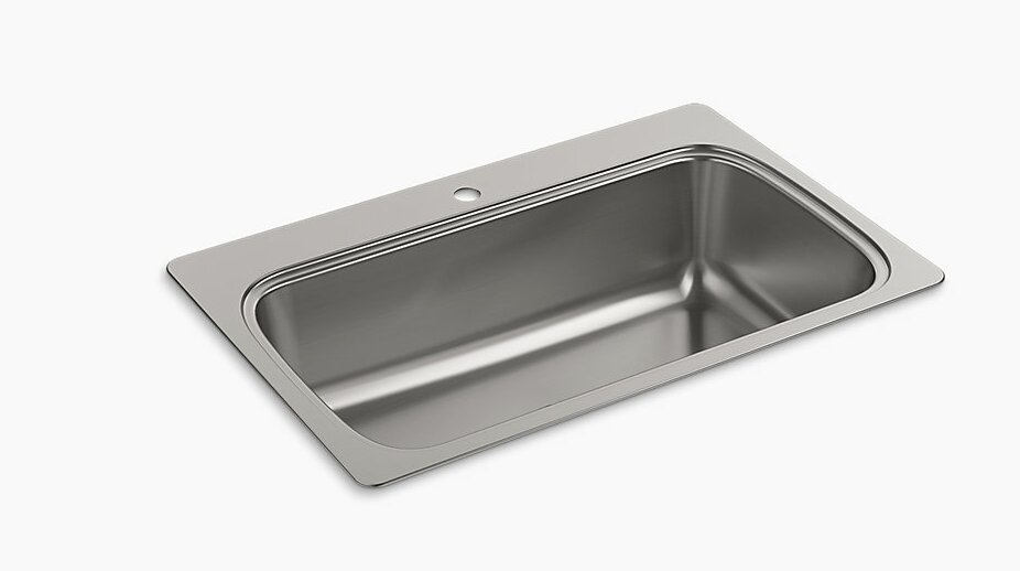 verse 33   x 22   top mount single bowl kitchen sink k 20060  na k 20060 1 nak 20060 3 nak 20060 4 na kohler verse 33      rh   wayfair com