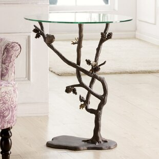 Bird And Pinecone End Table by SPI Home New