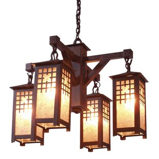 Steel Partners San Marcos 4-Light Shaded Chandelier