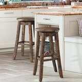 Mcwhorter Backless 30 Swivel Bar Stool (Set of 2) by Laurel Foundry Modern Farmhouse
