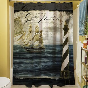 Timeless Voyage II Shower Curtain by Manual Woodworkers & Weavers