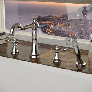 ANZZI Double Handle Deck Mount Roman Bath..