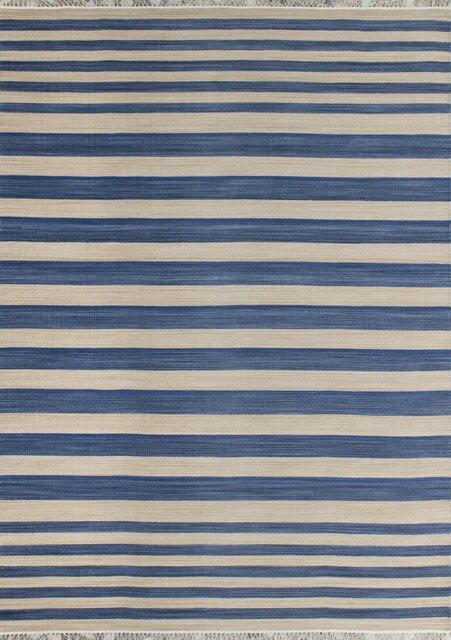 castleton home handgewebter teppich in blau beige bewertungen. Black Bedroom Furniture Sets. Home Design Ideas