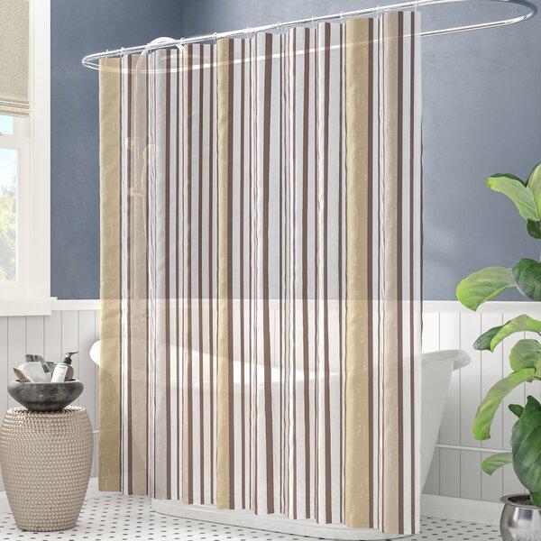 Alcott Hill Buttler Striped Single Shower Curtain Hooks Reviews Wayfair