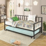 Wilbrecht Twin Metal Daybed with Trundle by Gracie Oaks