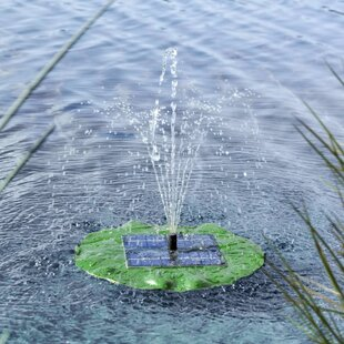 Gidney EVA And Polysilicone Solar Floating Fountain Pump Lotus Leaf Image
