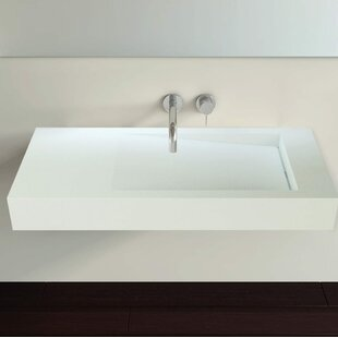 Reviews Polymarble 31 Wall Mount Bathroom Sink By Badeloft