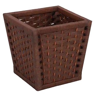 Bloomsbury Market Palmieri Wood 3.5 Gallon Waste Basket