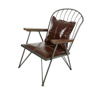 Cole & Grey Genuine Leather Armchair