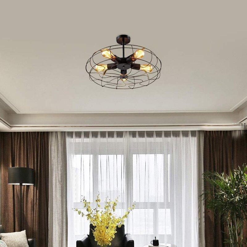 Retro Fan Ceiling Lamp Chandelier Pendant Lamp Loft Lamp Light (Lamps Not Included)