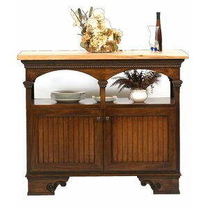 American Premiere Kitchen Island with Butcher Block Top by Eagle Furniture Manufacturing