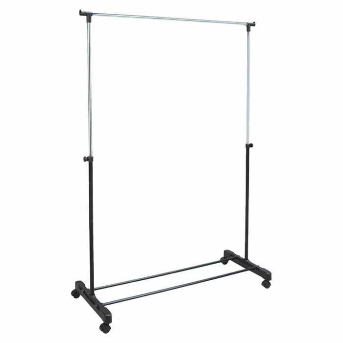 Free Standing Storage Rolling Garment Rack Clothes Hanger