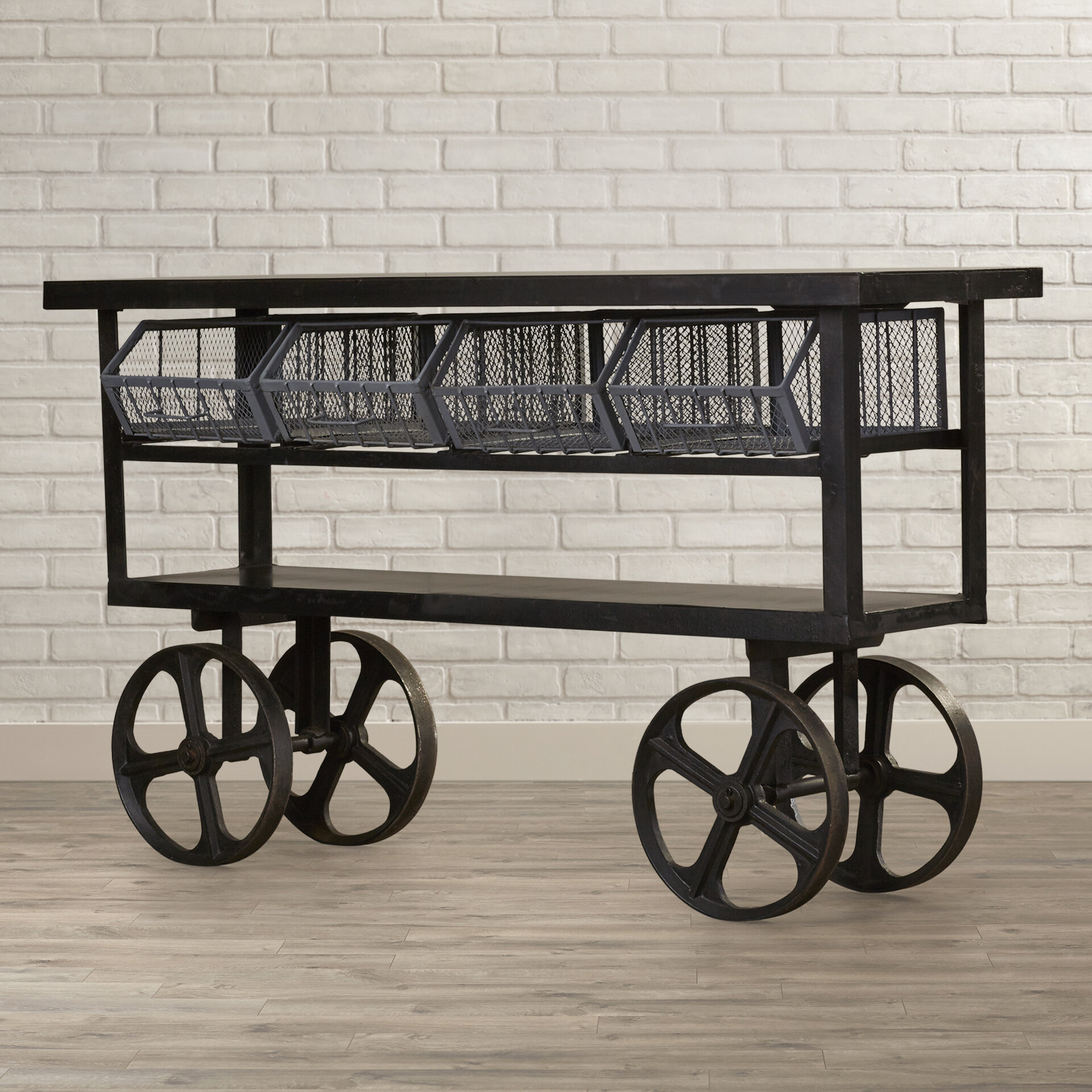 Loftdesigns Kuchenwagen Industrial Chic Maricopa Wayfair De