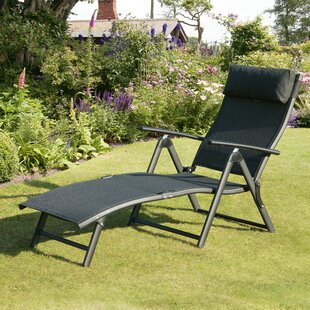 Isanti Reclining Sun Lounger With Cushion Image