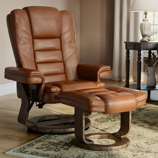 Albury Manual Swivel Recliner with Ottoman by Charlton Home SKU:AC223964 Description
