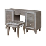 Blom Vanity Set with Stool by Everly Quinn