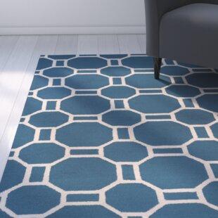 Evangeline Hand-Tufted Marine Blue Indoor/Outdoor Area Rug