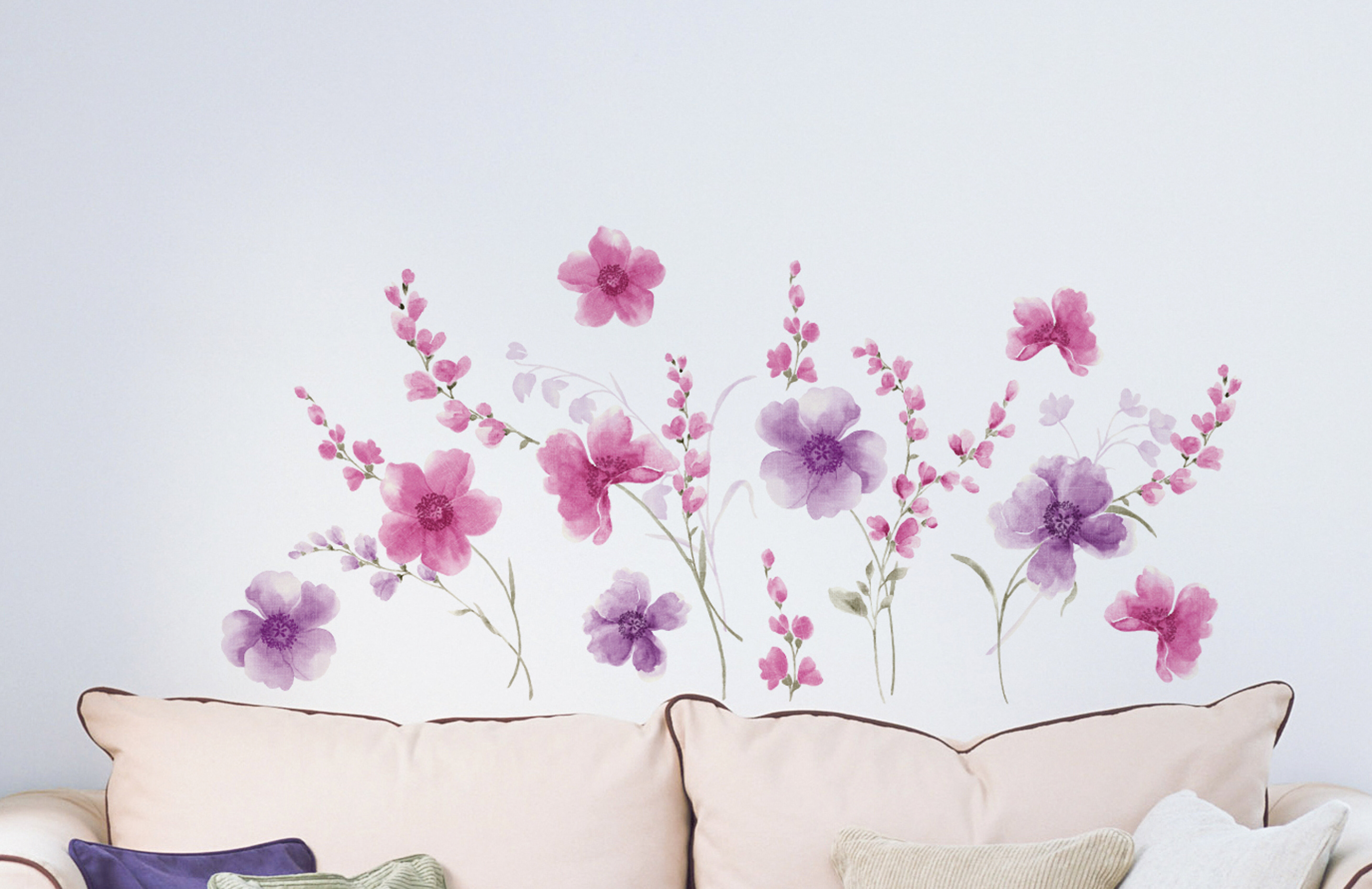 Home Decor Line Spring Flowers Wall Decal Reviews