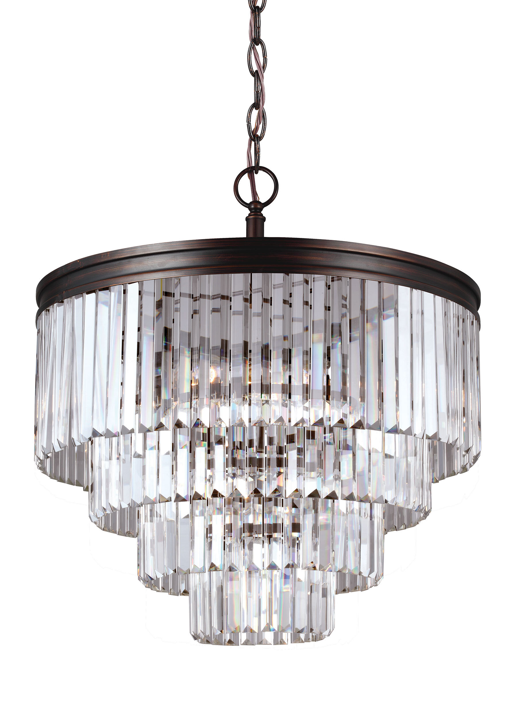 Willa Arlo Interiors Domenique 6 Light Crystal Chandelier