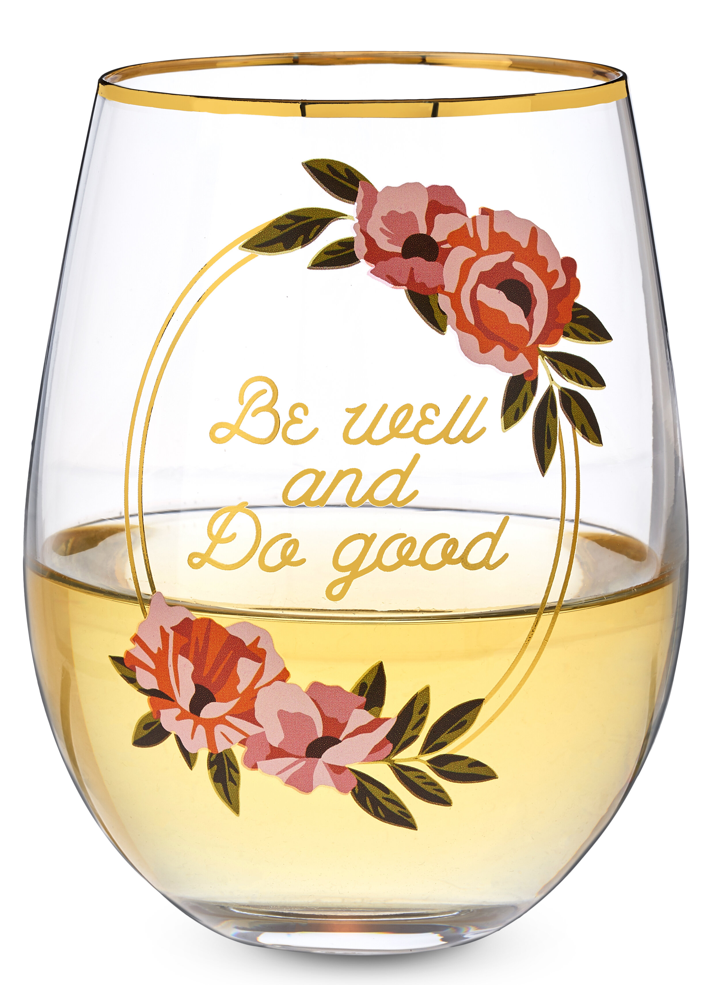 Twine Be Well And Do Good 16 Oz Stemless Wine Glass Wayfair