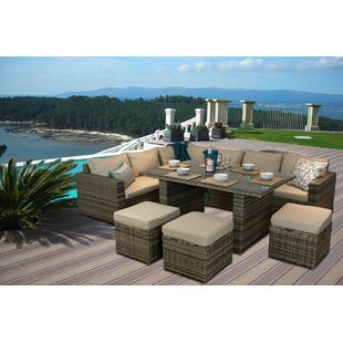 Nails 9 Seater Rattan Sofa Set By Sol 72 Outdoor