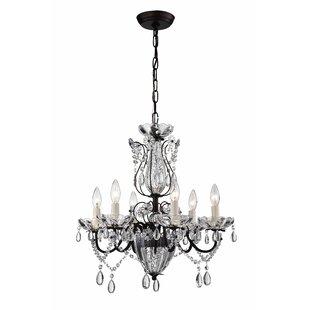 Astoria Grand Avila 6-Light Crystal Chandelier