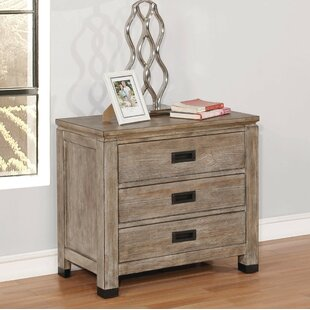 Bridgeview 3 Drawer Nightstand by Loon Peak