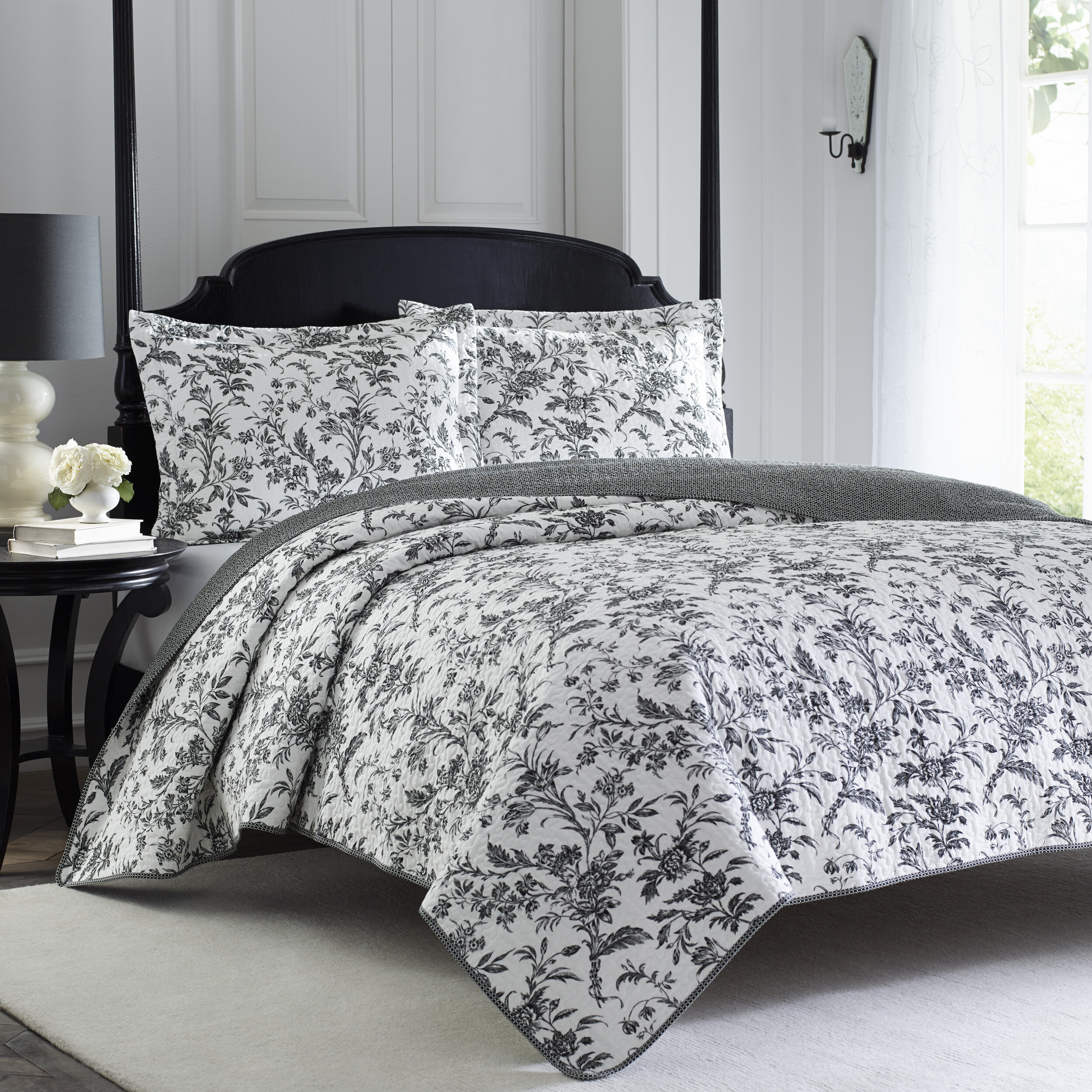 Laura Ashley Amberley Reversible Quilt Set By Home Reviews Wayfair