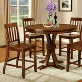 Cliffside Round Counter Height Solid Wood Dining Table by Bay Isle Home