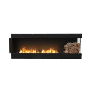 FLEX86 Right Corner Wall Mounted Bio-Ethanol Fireplace Insert by EcoSmart Fire