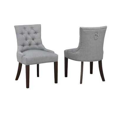 Letitia Upholstered Dining Chair Darby Home Co Upholstery Color Gray