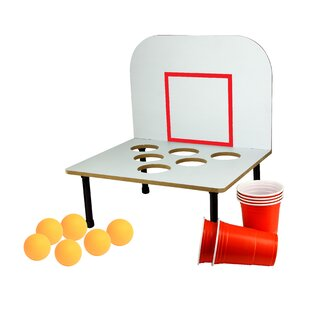 Gill Beer Pong Drinking Game (Set of 2) By Wrought Studio